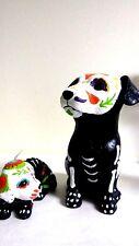 "Halloween  Skeleton Dog Indoor Outdoor Tabletop Halloween Decoration 3 1/2"" Tall"