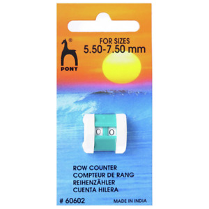 Pony Knitting Row Counter Large 5.5-7.5  mm colour vary