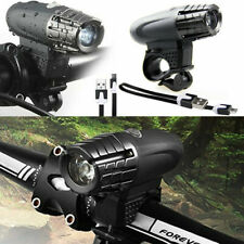 Waterproof USB Rechargeable LED Bicycle Bike Headlight Flashlight Torch Lamp