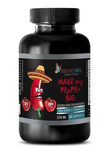 Male Enlargement - Make My Pepper Big - Male Enhancements Pills - 1 Bott 60 Caps