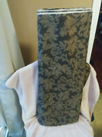 """Fabric Remnant Dark Brown with Light Brown Leaf Design Upholstery 9 3/4Yds x 54"""""""