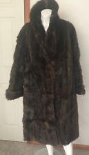 "Vintage Fur Coat Women's Brown Long Length Scholnik Furrier 48"" bust jacket"