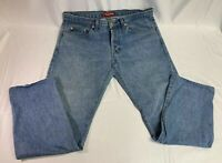 Authentic SUPREME used stone washed Blue Jeans 34 x 28 Denim Pants NYC