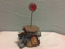 Rustic Metal Wire Spool Photo Picture Holder