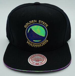 NBA Golden State Warriors Mitchell & Ness Adult Adjustable Fit Hologram Cap M&N