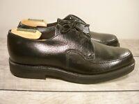 Vintage Jarman Black Leather Oxfords Lace Up Deck Delivery Men's Shoes Size 9.5