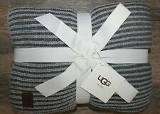 "NWT UGG Oversized Melange Knit Throw Blanket NEW 50""x70' Granite Gray $125"