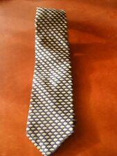 Men's John Comfort Neck Tie - Designer Tie - Silk Tie - Navy & Gold