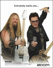Zakk Wylde and Steve Vai Zoom Q2 HD Handy Video Recorder ad 8 x 11 advertisement