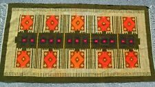 """Vintage Large Hand Woven / Knotted Southwestern / Mexican  Area Rug 92"""" X 48""""."""
