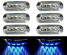 8x Led Blu Luce di Indicatore Laterale 24V per Camion Bus Van Volvo DAF Iveco