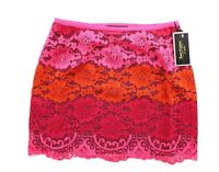 Juicy Couture Women's Black Label Trio Rio Lace Mini Skirt, Sangria 654