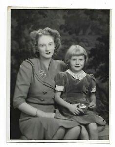 6 x 9 original Marcus Adams Photo Lady Rosemary Dunn & Daughter Davina rosemary