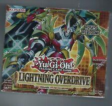 Yu-gi-oh Lightning Overdrive Booster Box 1st Edición Sellado de fábrica