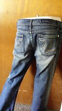 """Rock and Republic Jeans Size 29x31 Cut 9051 Jeweled Back Pockets """"R"""""""