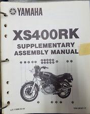 Used Yamaha Supplementary Assembly Manual XS400RK 1982 Era LIT-11666-03-53