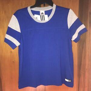 NWT Adidas Boys Match Jersey T-Shirt. Blue & Size Youth Medium (12-14)