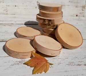 Birch Wood Tree Slices 2-10cm Rustic Wedding Table Craft Natural logs Christmas