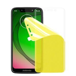 For Motorola Moto G7 Power Full Coverage Ultra Clear Screen Protector TPU
