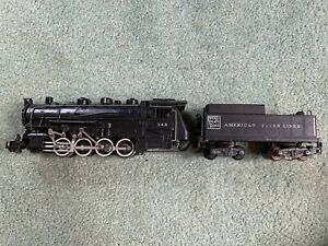 American Flyer #343 Nickel Plate 080 engine loco tender 4position unit in cab 55