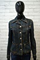 RICHMOND Giubbino Donna Taglia 42 Jeans Giacca Jacket Giubbotto Cotone Blu Veste