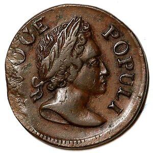 1760 Voce Populi Colonial Copper Coin