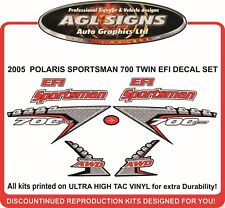 2005 POLARIS SPORTSMAN 700 TWIN EFI  DECAL SET   800 TWIN  stickers reproduction