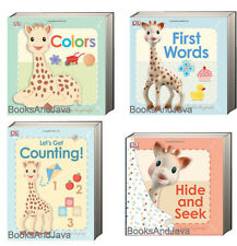 SOPHIE the GIRAFFE Let's Get Counting,Colors,Hide & Seek & First Words (bb) 4Bks