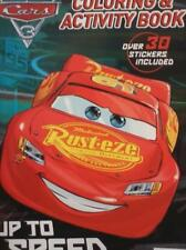 """Disney/Pixar, Cars 3, """"Up To Speed"""", Coloring & Activity Book + Stickers 8.5 VF+"""