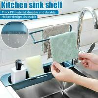 Telescopic Kitchen Sink Drain Shelf Rack Holder With Storage Drain Basket