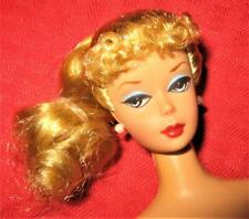 VINTAGE REPRODUCTION BLONDE CURLY BANGS STRAIGHT LEG  REPRO PONYTAIL BARBIE!