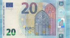 European Union Banknote P22R 20 Euro 2015 Prefix RB,  Plate R010E5, UNC