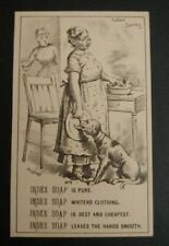 Trade Card INDEX SOAP BRAND, THE DOG CLEANS THE PLATES , MAMMY, BLACK AMERICANA