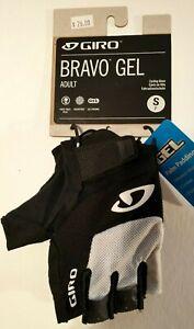 Giro Bravo Gel Cycling Gloves, Adult Small, White, Fingerless