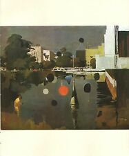 "1970 Vintage CALIFORNIA Full Color Art Plate ""LACMA"" CALDER McIntyre Lithograph"