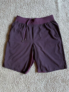 "Lululemon Men's T.H.E. Short 9"" Linerless Heathered Dark Adobe Purple Size Small"