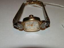 #5969,Bulova 23J Diamonds & 10K Gold Filled Vintage Wristwatch