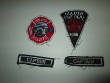 Embroidered Fabric Patch Lot DULUTH FIRE DEPARTMENT & CAPTAIN