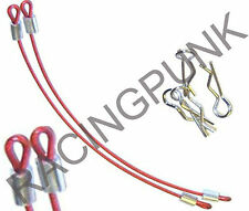 RC Car 1/10 Body shell Body Clips Secure Pins & Wire Quick Release SHORT RED UK