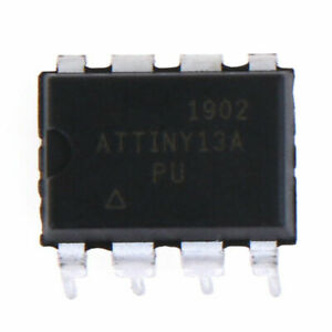 Atmel ATtiny13A-PU  8-Bit-MCU, DIP8 IC, AVR Microcontrollers, 20 MHz
