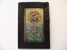 Old Navy Sailor Tin Sign Advertising Tin Antique Black Picture Frame Cigarette