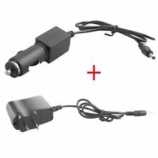 3.5mm Wall AC Charger + Travel In Car DC 12V Charger For Headlamp Flashlight