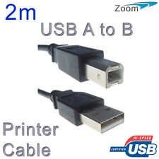 2 Metre USB Printer Cable High Speed 2.0 for New Printers HP Epson Canon Brother