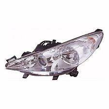 Peugeot 207 2006-2015 Chrome Front Headlight Headlamp N/S Passenger Left