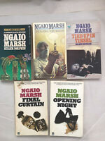 Lot of 5 Ngaio Marsh Vintage Mystery Paperbacks Opening Night Final Curtain