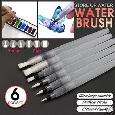 6pcs Ink Pen for Watercolor Water Brush Pen Calligraphy Painting Tool Set