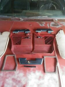 1964-1967 AMC Rambler Classic Kick Panel & Sun Visor Lot Classic Ambassador Red