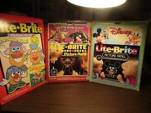 Vintage Hasbro LITE BRITE Template Paper Disney - Transformer - Mr. Potato Head