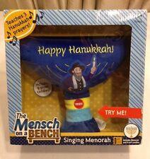 Mensch on the Bench Singing Menorah    NEW NIB