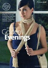 ~  Knitting Pattern For Lady's Glitzy Evening Bag & Scarf ~